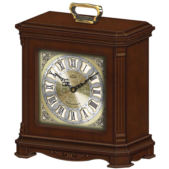 Adina wood chiming mantle clockCL13-J2948