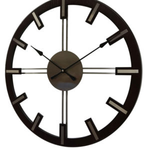 Adina open faced timber wall clock 16-A6471