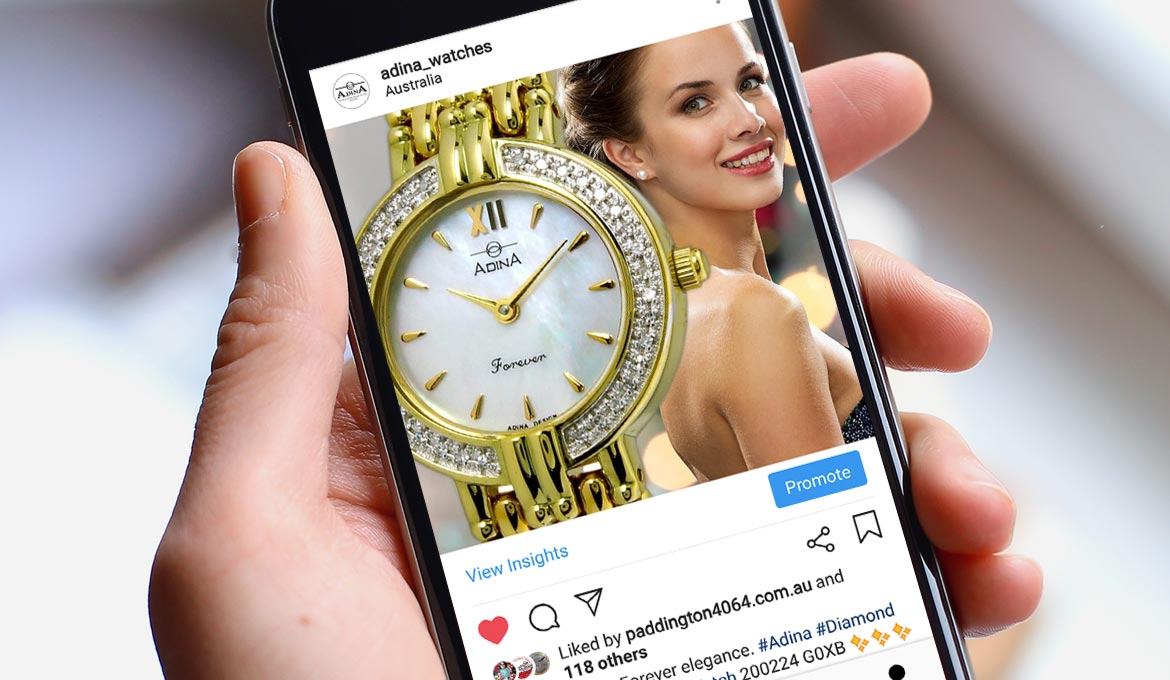 Adina Watches - Social Media Presence
