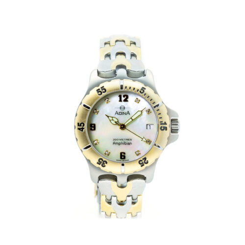 Adina Amphibian diamond set dive watch CM114 T0XB