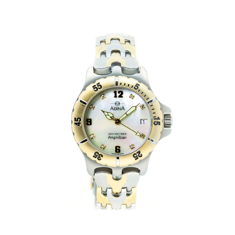 Adina Amphibian diamond set dive watch CM114 T0XB