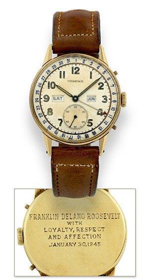Franklin D Roosevelt engraved watch