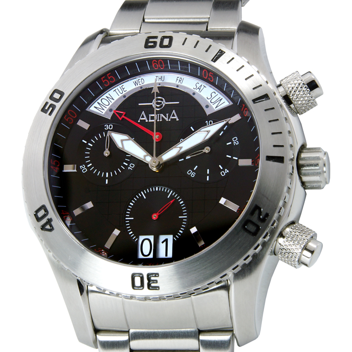 Adina Amphibian dive watch NK156 S2XB Retrograde