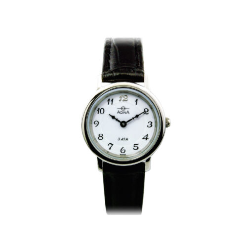 Adina Everyday Classic Dress Watch NK40 S1FS (Black Strap)