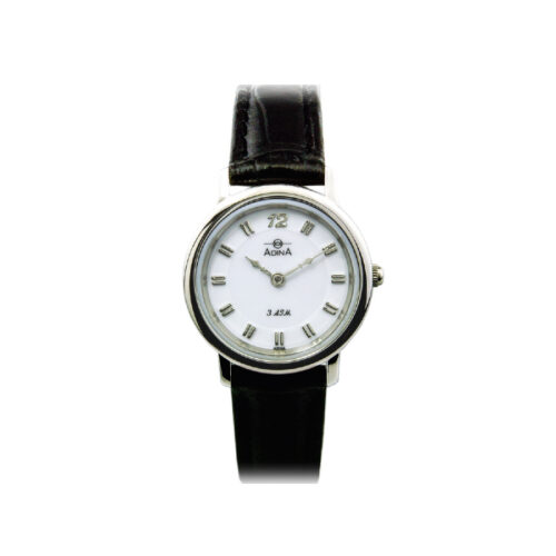 Adina Everyday Classic Dress Watch NK40 S1XS (Black Strap)